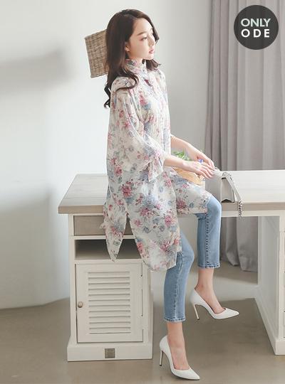 로즈쿼츠 Frill Long Dress&Blouse