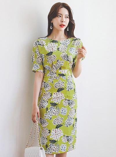 Chamomile Flower Pintuck Dress