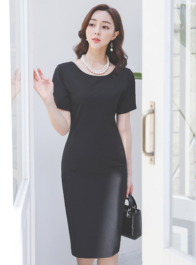 Simple Basic Round Span Dress