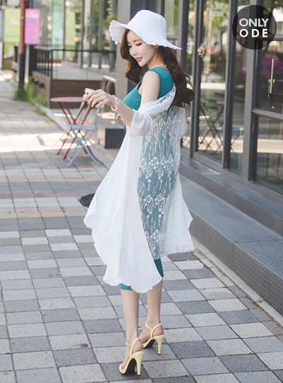 Dressy see-through bag Race shawl cardigan