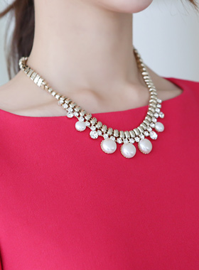 Harp cubic Pearl Necklace