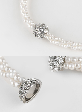 Magnetic pearl Necklace