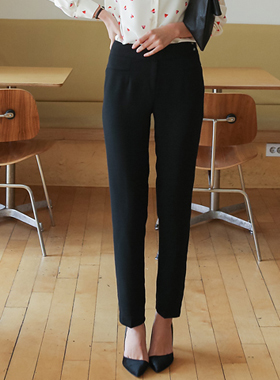 Side snap button Suit Pants