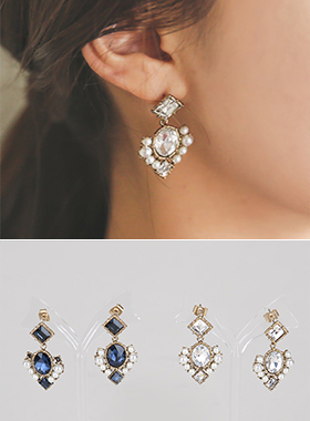 Antique pearl earring cubic Noble