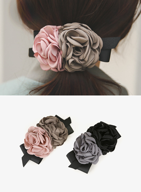 rose Flower bowknot hairpin