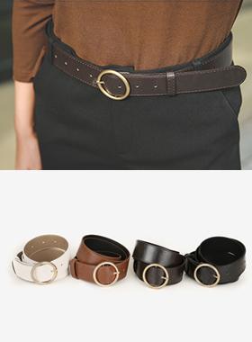 chic gold ring Leather Belt