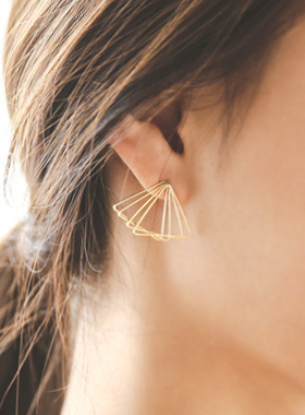 Angle triple earring
