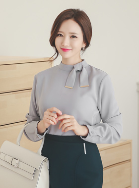 Gold Tip Ribbon Blouse (Sold-Out)
