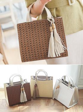 Ratan Tassel Tote Bag