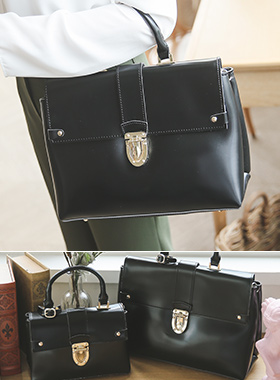 Flip Gold Buckle Glossy Tote Bag