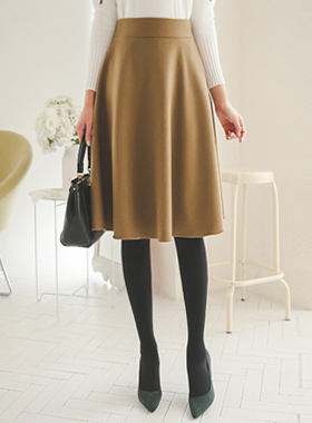 Basic Wool Flare Skirt