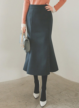 High Admiral Midi Long Wool Skirt