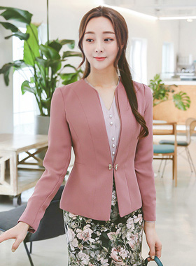 Humming Incision Double No collar Jacket