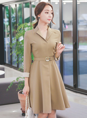 Rust angel incision color combination Dress