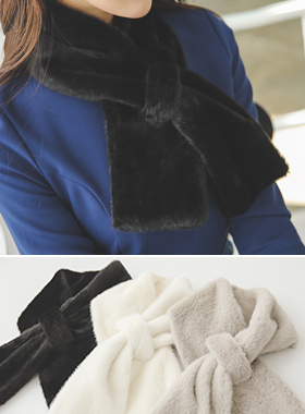 Soft ring Rabbit fur muffler