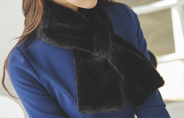 Soft ring Rabbit fur muffler