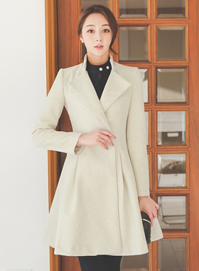 Pinch Aline Flare Wool Coat