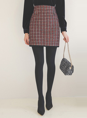 royal Fringe Tweed Mini Skirt