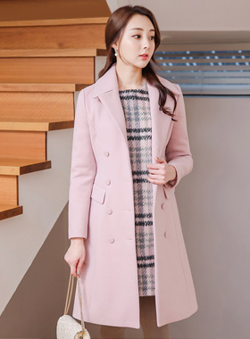 Basic Double-button Taylor Wool Coat