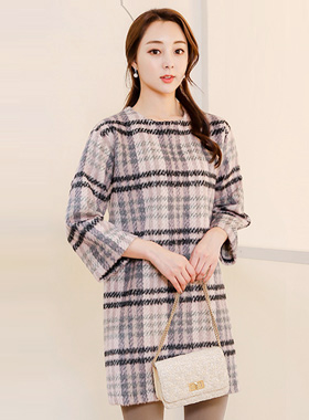 lovely Bambi Wool Check Dress