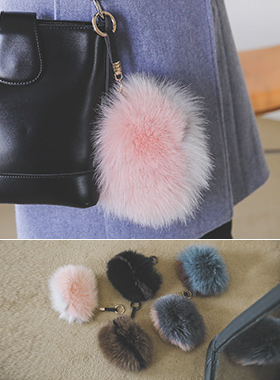 Real Fox Mini Keyring Wallet