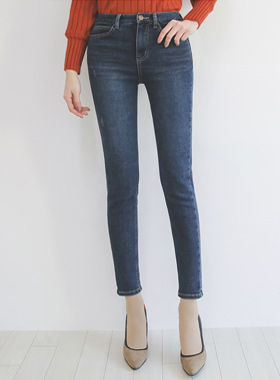 Dot pocket napping Span Jeans