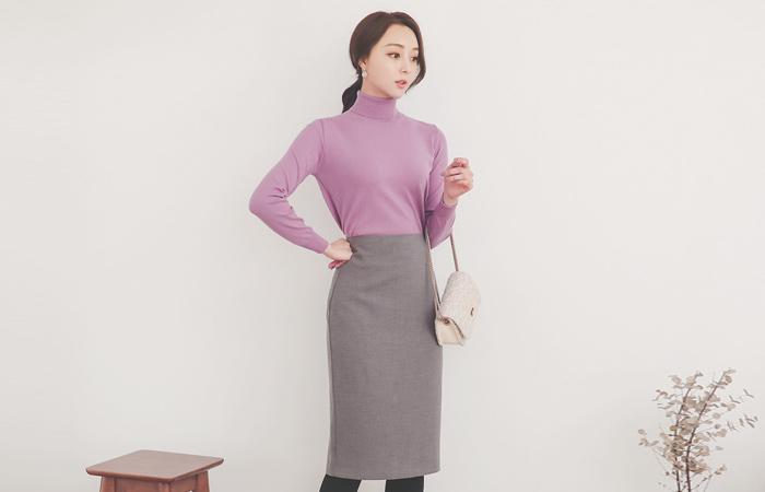 Basic Hline Cutting Span Skirt