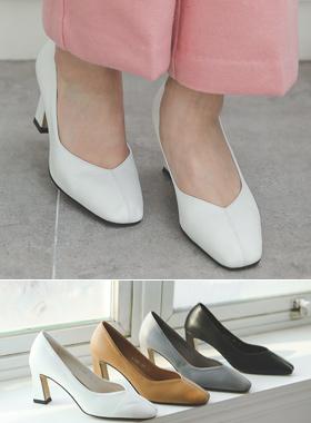 stitch Line Semi- High heel
