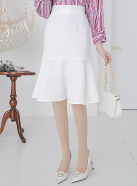 Soft Back Banding Flared Skirt