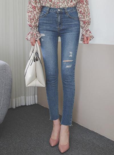 Washing Damage Easy Cutting Jeans