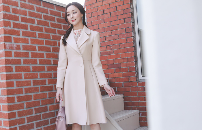 Two button Flared Span Long Jacket