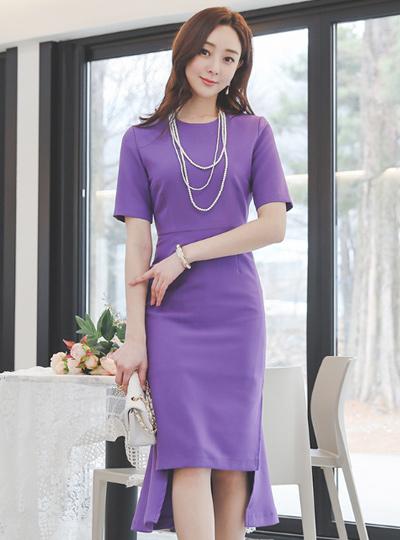 Adorable Unbalance Cutting Back-Ruffle Dress