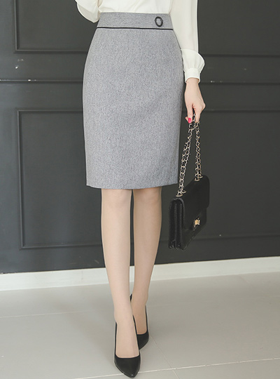 Formal button ring line Skirt