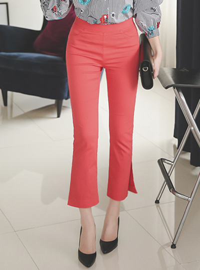 Boot cut slit semi Banding Pants