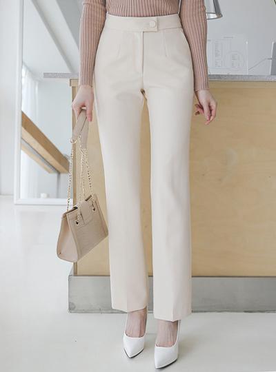 Formal Half-High waist Slim Fit Slim Slacks
