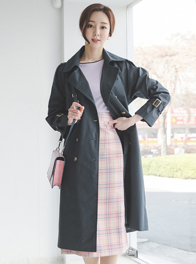 Double-button Classic Over Trench Coat