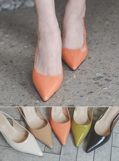 Enamel Spring Color SlingBack Heels