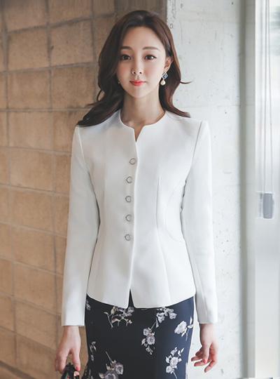 Button Line Slim Rounding Jacket
