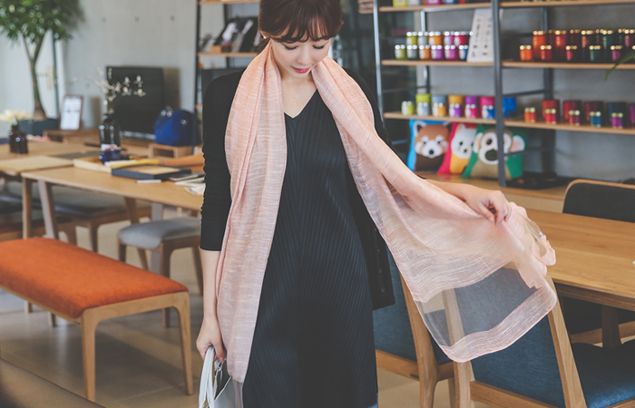 Mash See-through look Long Scarf