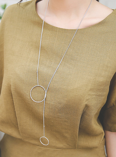 Doubling Y Necklace