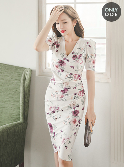 Holly Rose Flower Silky Dress