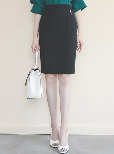 Silver-Stick Cutting-line Tip Motive H-line Skirt
