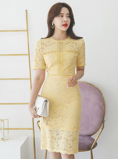 Luxury Eyelet Lace Dress(summer)