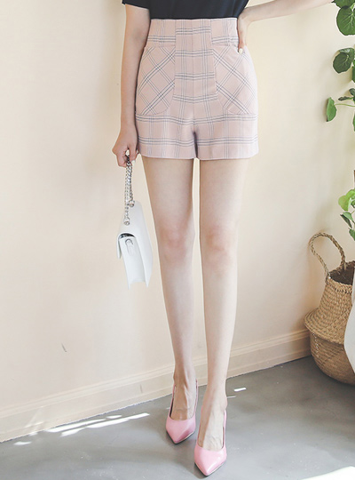 Windouwpane Check High-Waist Midi Slacks
