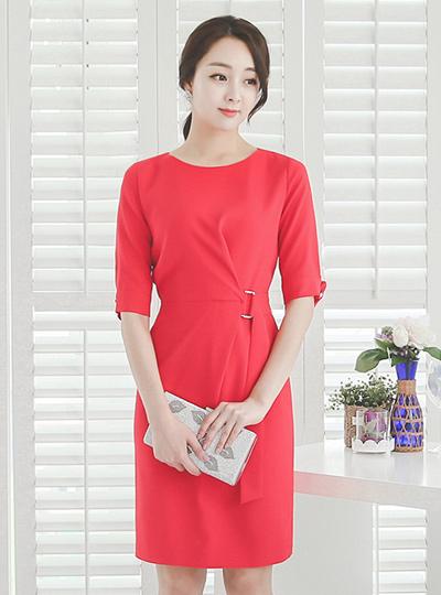 Strap Belted Dress