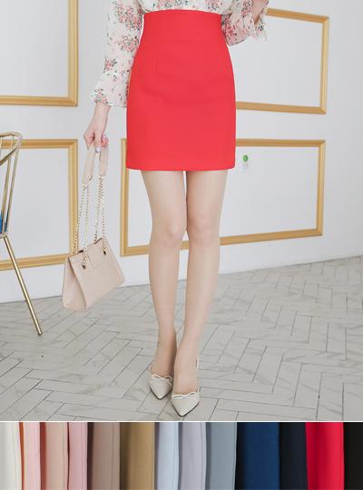 Soft high waist Span Mini skirt