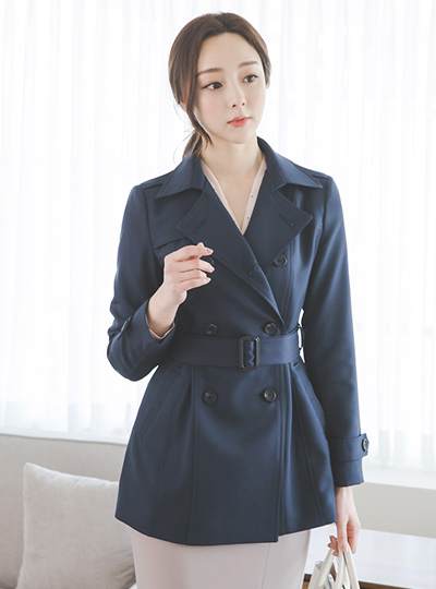 Basic Buckle Harp Trench Coat