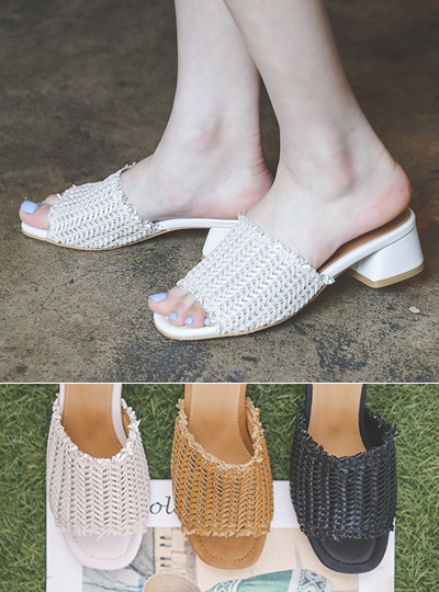 Summer Rattan Daily Slippers Shoes