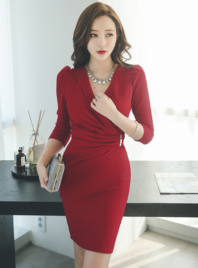 Intense Sexy Ruched wrap dress