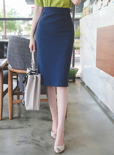 Basic Banding Cotton Skirt